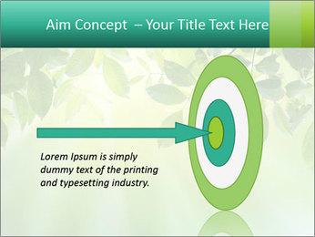 Green leaves PowerPoint Template - Slide 83
