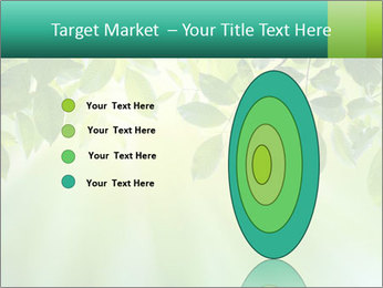 Green leaves PowerPoint Template - Slide 84