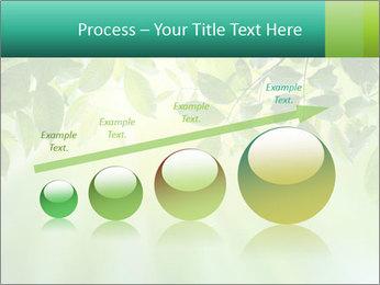 Green leaves PowerPoint Template - Slide 87