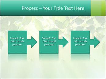 Green leaves PowerPoint Template - Slide 88