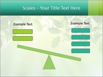 Green leaves PowerPoint Template - Slide 89