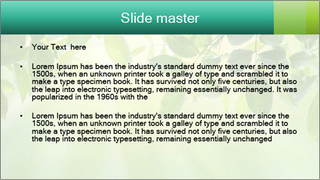 Green leaves PowerPoint Template - Slide 2