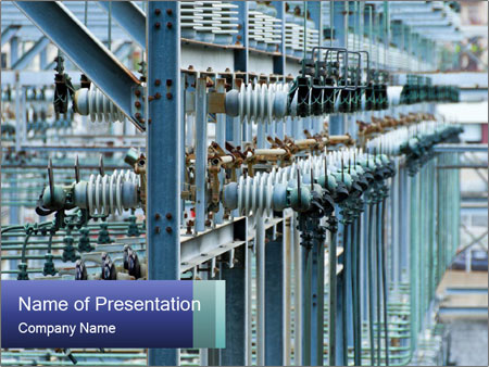 Multiple Power Lines PowerPoint Templates
