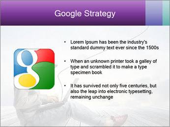 Man using a laptop PowerPoint Template - Slide 10