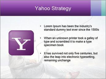 Man using a laptop PowerPoint Template - Slide 11