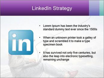 Man using a laptop PowerPoint Template - Slide 12