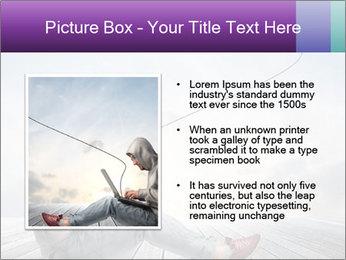 Man using a laptop PowerPoint Template - Slide 13