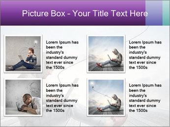 Man using a laptop PowerPoint Template - Slide 14