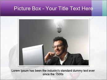 Man using a laptop PowerPoint Template - Slide 15