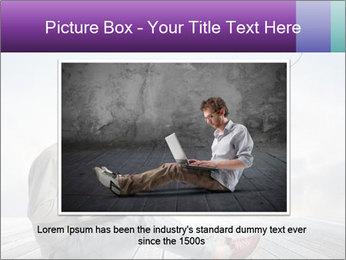 Man using a laptop PowerPoint Template - Slide 16