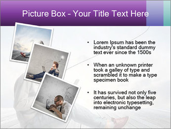 Man using a laptop PowerPoint Template - Slide 17