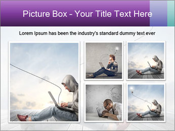 Man using a laptop PowerPoint Template - Slide 19