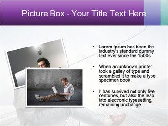 Man using a laptop PowerPoint Template - Slide 20
