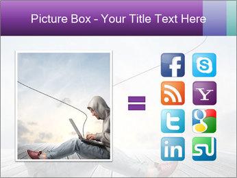 Man using a laptop PowerPoint Template - Slide 21