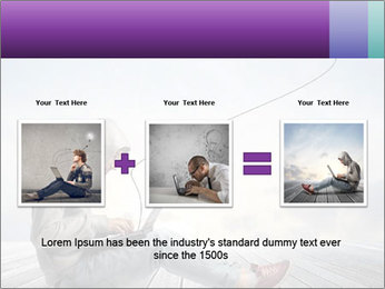 Man using a laptop PowerPoint Template - Slide 22