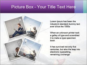 Man using a laptop PowerPoint Template - Slide 23