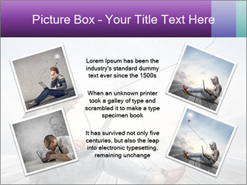 Man using a laptop PowerPoint Template - Slide 24