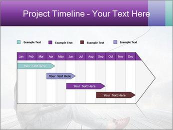 Man using a laptop PowerPoint Template - Slide 25