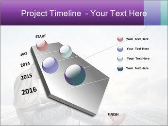 Man using a laptop PowerPoint Template - Slide 26