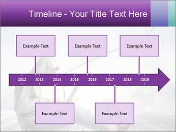 Man using a laptop PowerPoint Template - Slide 28