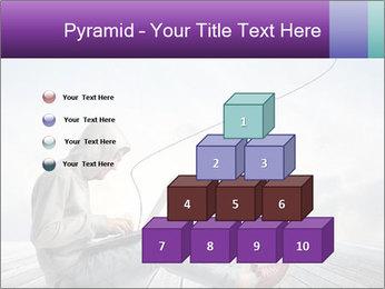 Man using a laptop PowerPoint Template - Slide 31