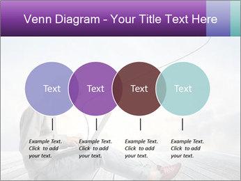 Man using a laptop PowerPoint Template - Slide 32