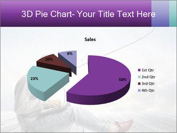Man using a laptop PowerPoint Template - Slide 35