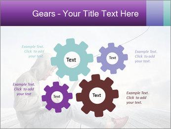 Man using a laptop PowerPoint Template - Slide 47