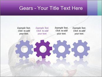Man using a laptop PowerPoint Template - Slide 48