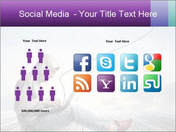 Man using a laptop PowerPoint Template - Slide 5