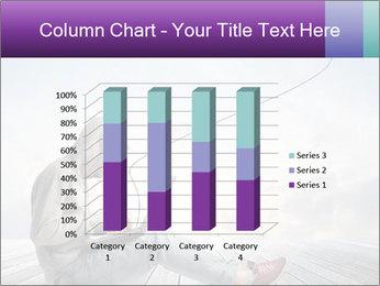 Man using a laptop PowerPoint Template - Slide 50