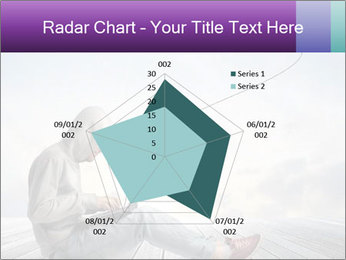 Man using a laptop PowerPoint Template - Slide 51