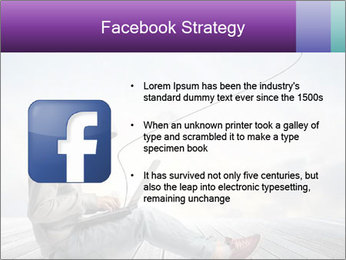 Man using a laptop PowerPoint Template - Slide 6