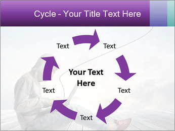 Man using a laptop PowerPoint Template - Slide 62