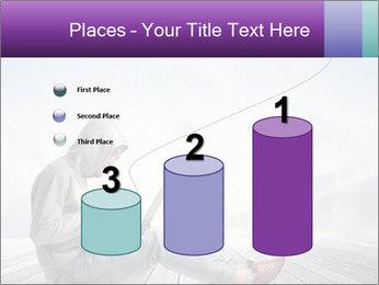 Man using a laptop PowerPoint Template - Slide 65