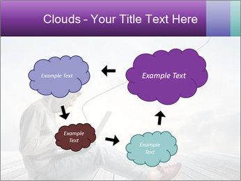 Man using a laptop PowerPoint Template - Slide 72