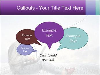 Man using a laptop PowerPoint Template - Slide 73