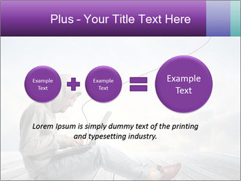Man using a laptop PowerPoint Template - Slide 75