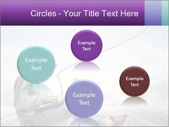Man using a laptop PowerPoint Template - Slide 77