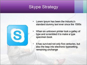 Man using a laptop PowerPoint Template - Slide 8