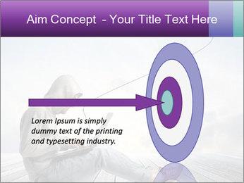 Man using a laptop PowerPoint Template - Slide 83