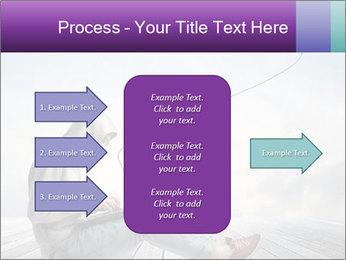 Man using a laptop PowerPoint Template - Slide 85