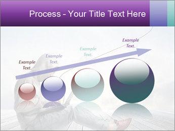 Man using a laptop PowerPoint Template - Slide 87