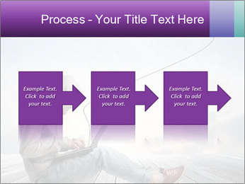 Man using a laptop PowerPoint Template - Slide 88