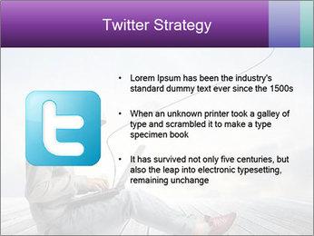 Man using a laptop PowerPoint Template - Slide 9