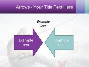 Man using a laptop PowerPoint Template - Slide 90