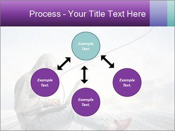 Man using a laptop PowerPoint Template - Slide 91