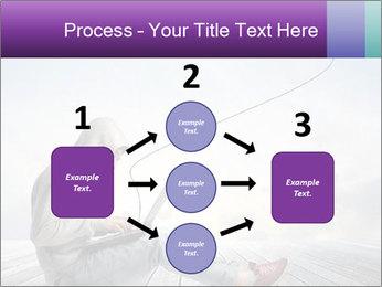 Man using a laptop PowerPoint Template - Slide 92