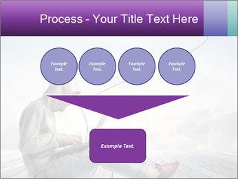 Man using a laptop PowerPoint Template - Slide 93