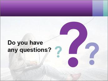 Man using a laptop PowerPoint Template - Slide 96